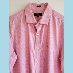 J CREW Thompson Shirtings Pink Gingham Shirt M